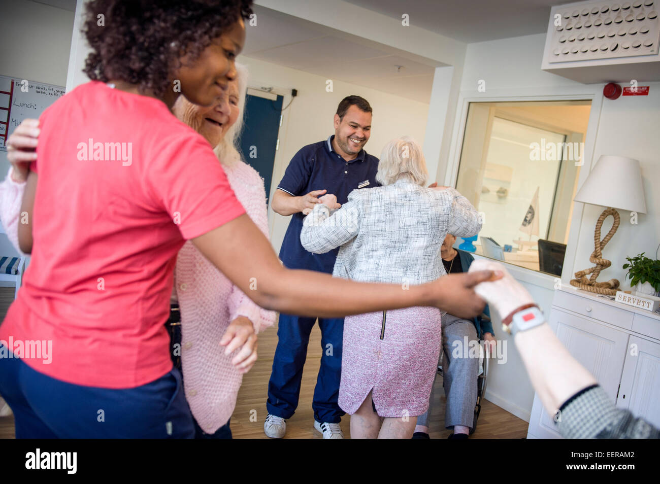 Nursery home, afternoon dance - Stock Image