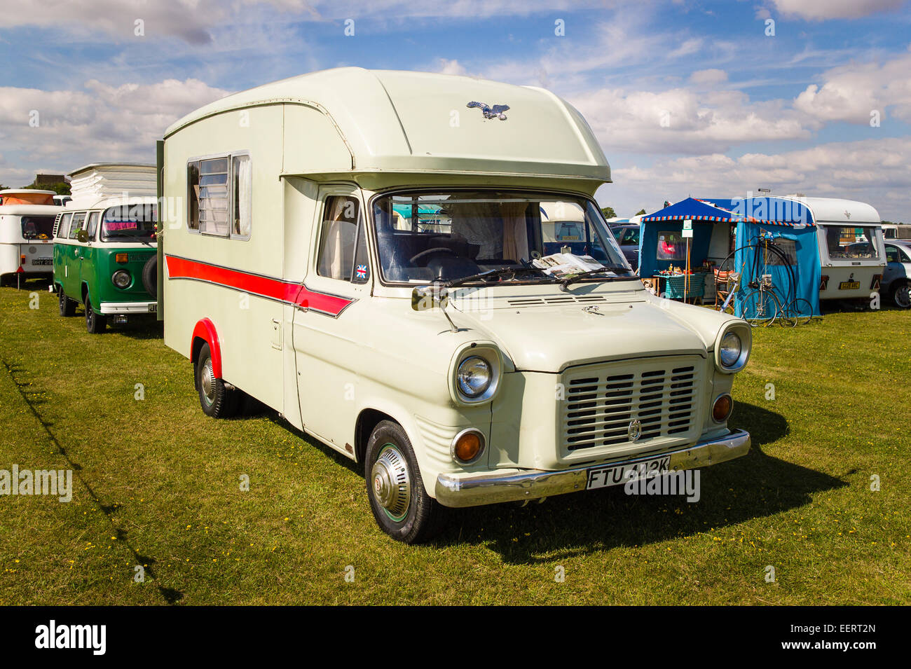 Old Ford Transit Camper Van Conversion At An English Show