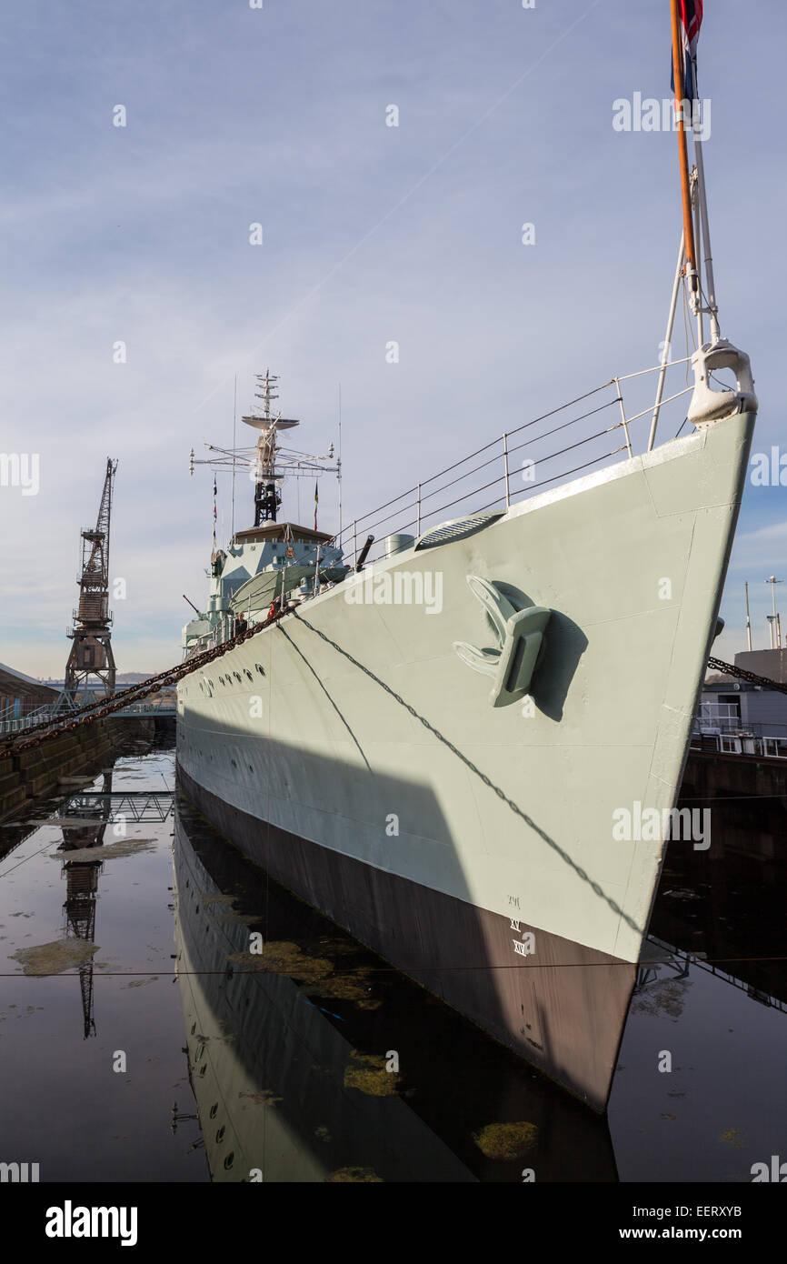 HMS Cavalier at Chatham Historic Dockyard - Stock Image