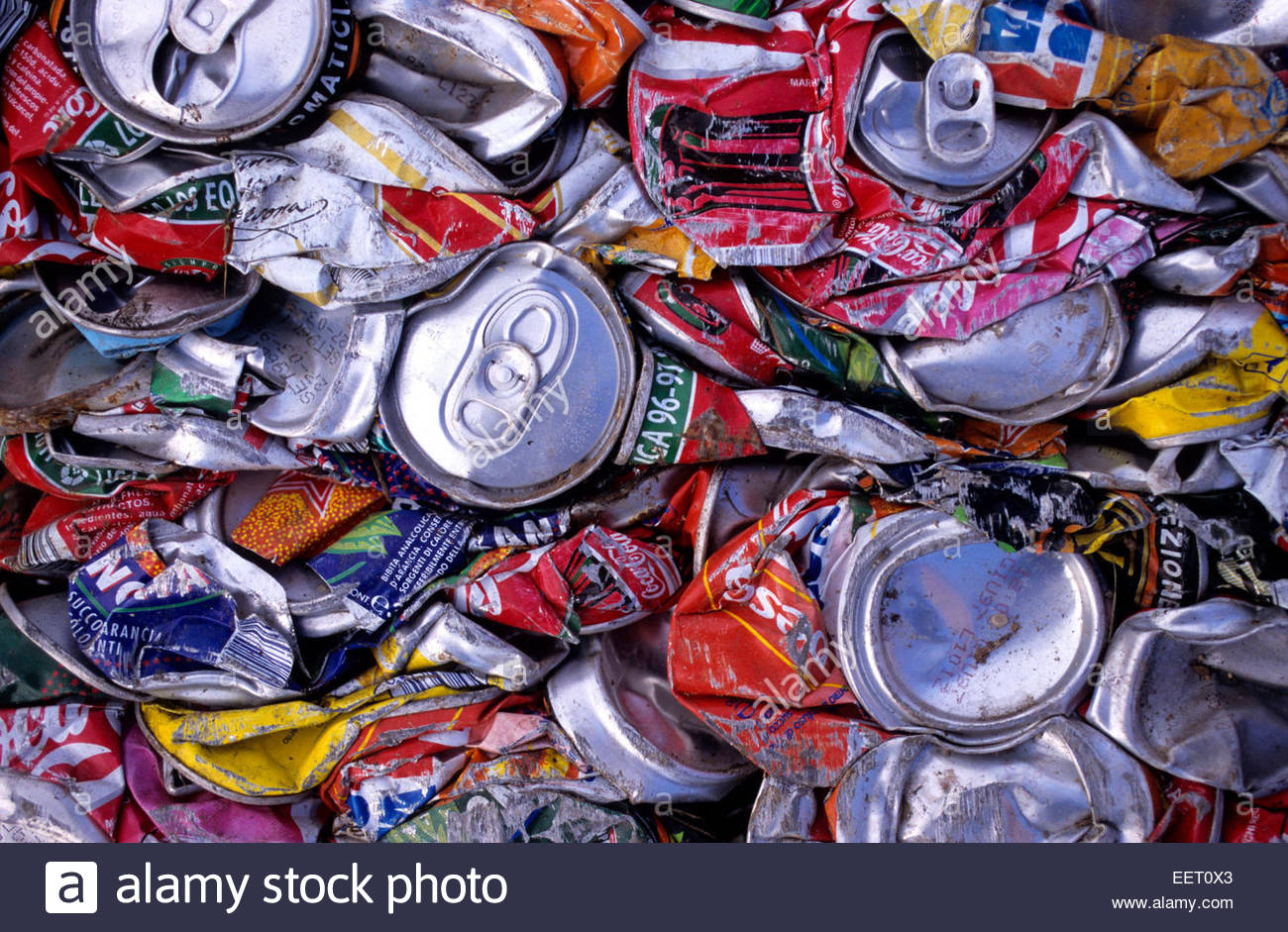 Can Recycling. - Stock Image