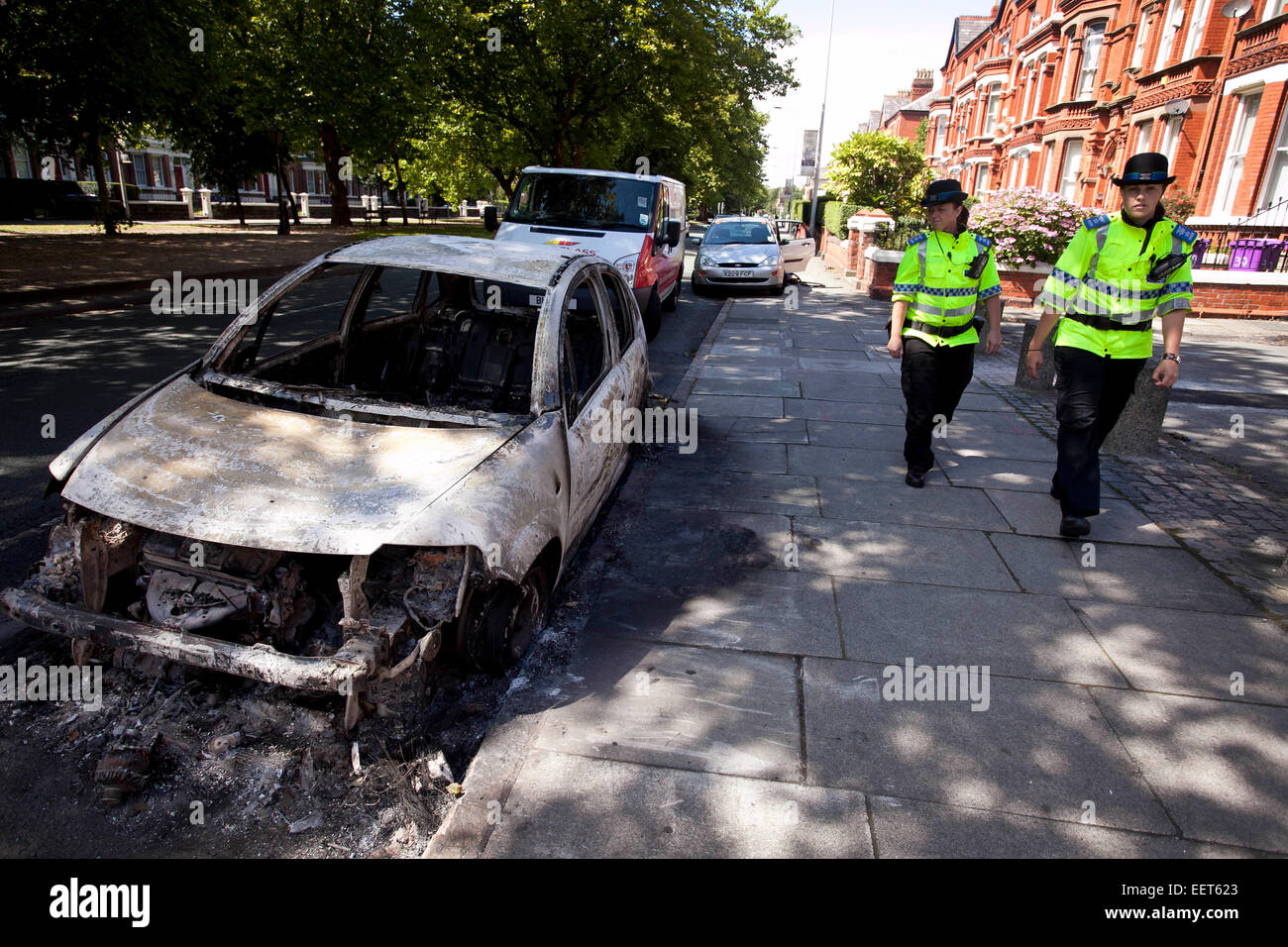 Toxteth , Liverpool , Aftermath of riots feature. Princess Road . - Stock Image