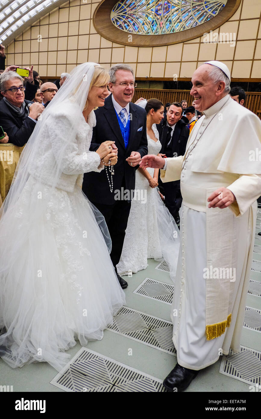 Vatican City. 21st January, 2015. Pope Francis - General Audience of 21 January 2015 Credit:  Realy Easy Star/Alamy - Stock Image