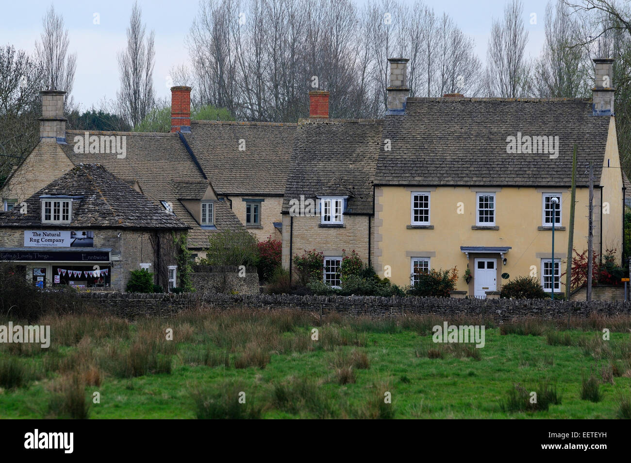 A view of Fairford in Gloucestershire a Cotswolds village UK - Stock Image