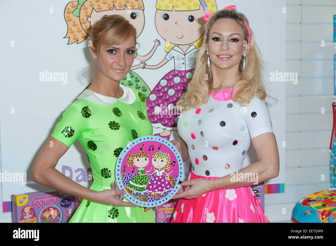 Strictly Come Dancing professional dancers, Aliona Vilani and Kristina Rihanoff launch a new toy for Galt at the - Stock Image