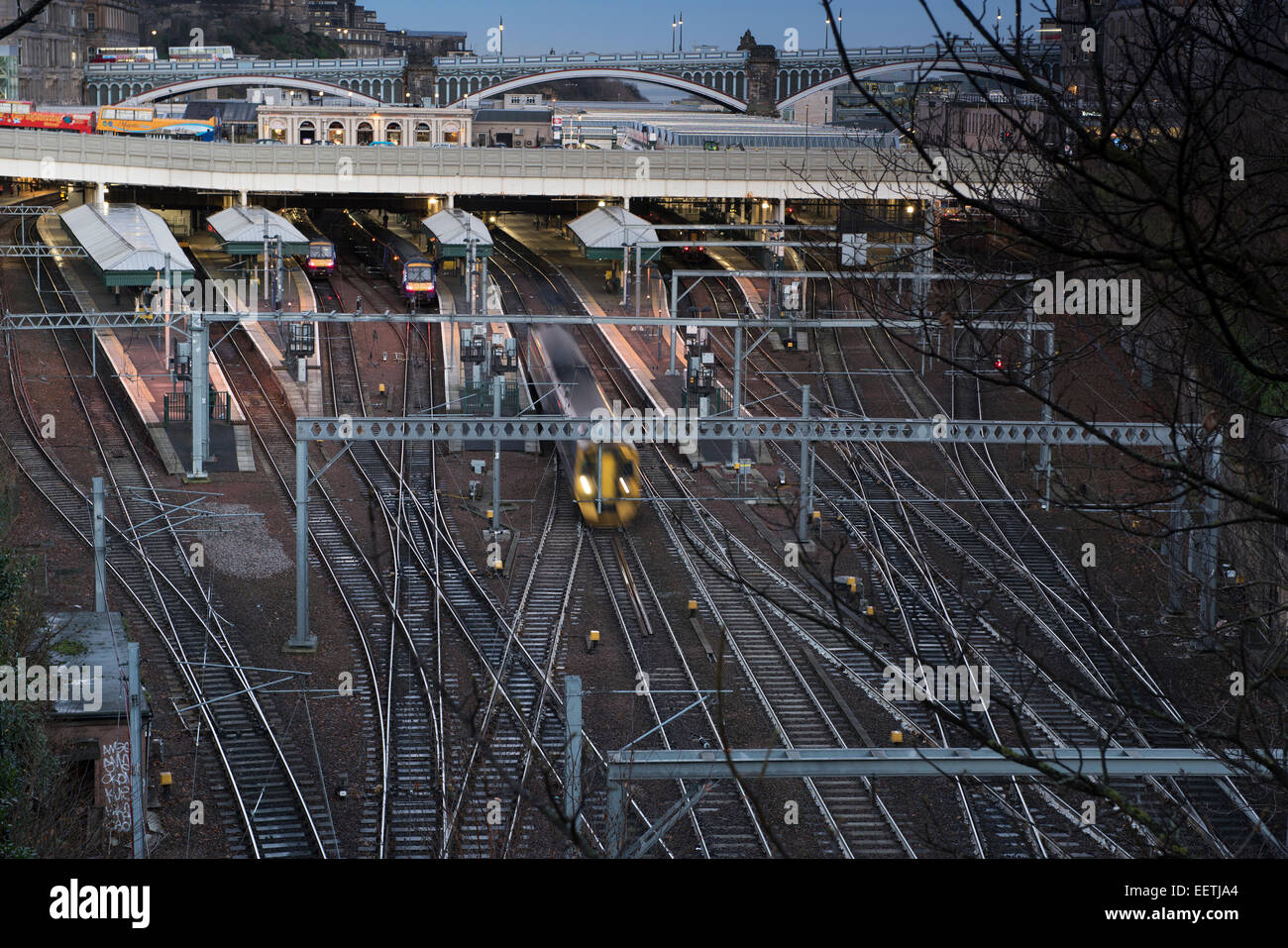 Waverley Station, Edinburgh, Scotland - Stock Image