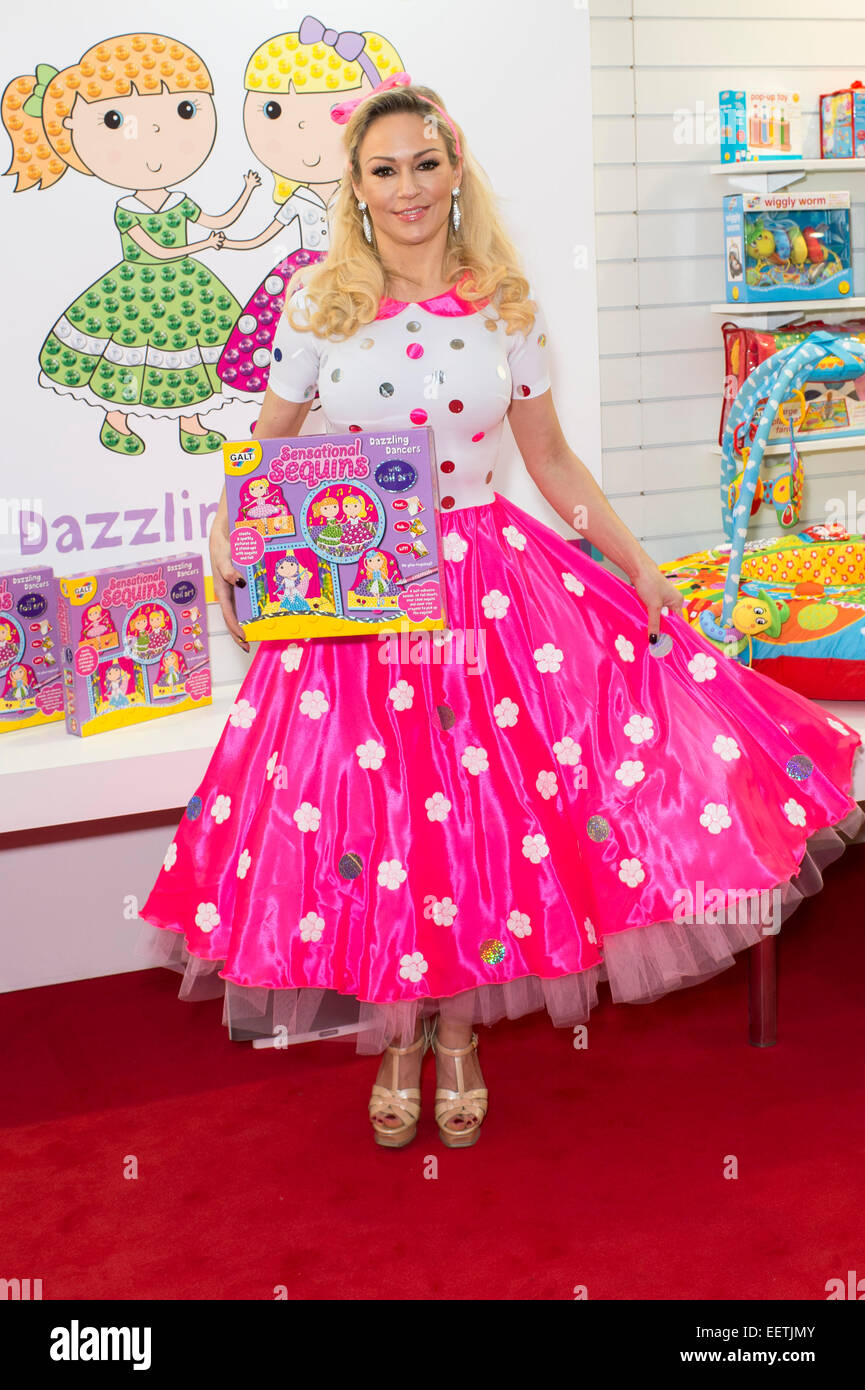 Strictly Come Dancing professional dancer Kristina Rihanoff launches a new toy for Galt at the Toy Fair 2015. - Stock Image