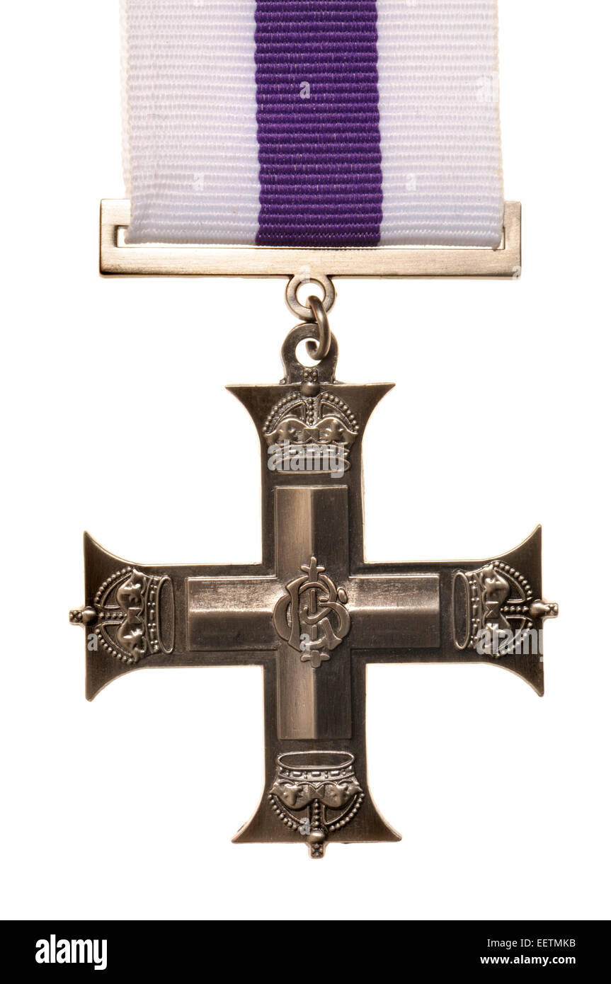 Military Cross medal (high quality replica) Award for gallantry (see description) - Stock Image