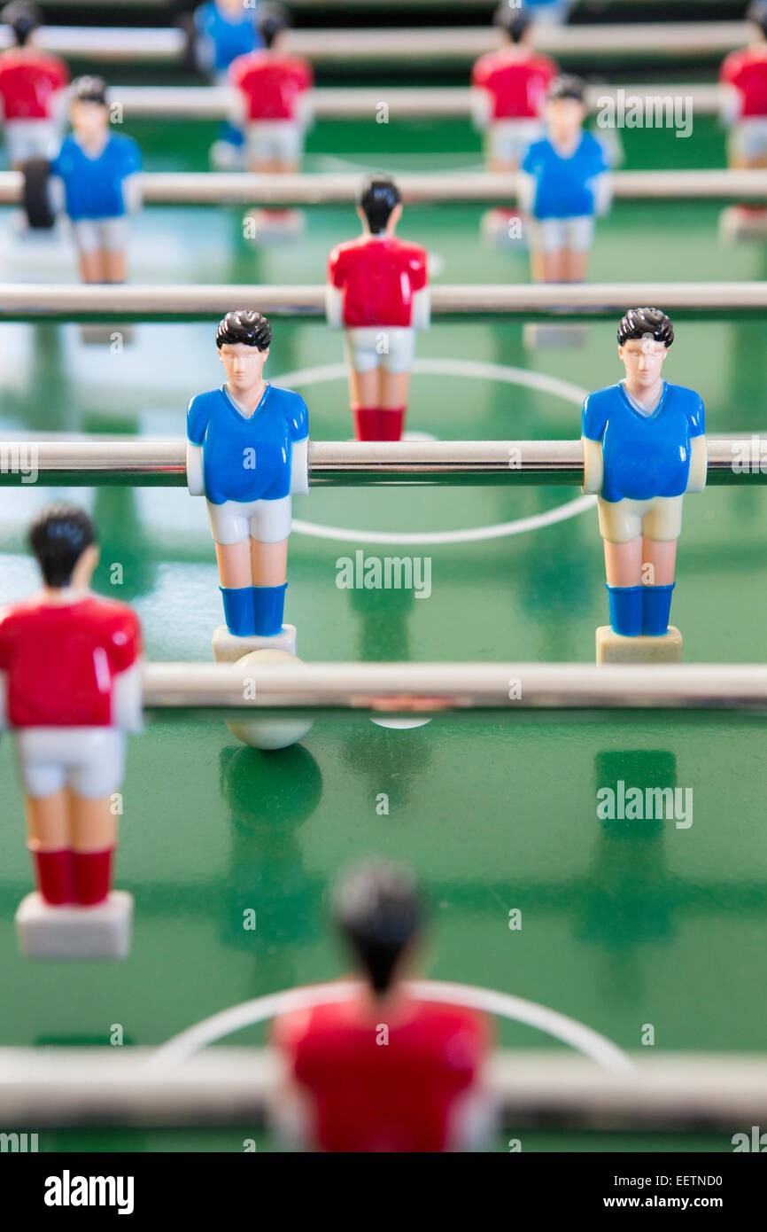 Close Up Of Players In Table Football Team - Stock Image