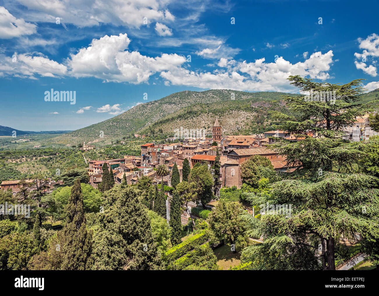 Tivoli - an ancient resting place of the Roman nobility . - Stock Image