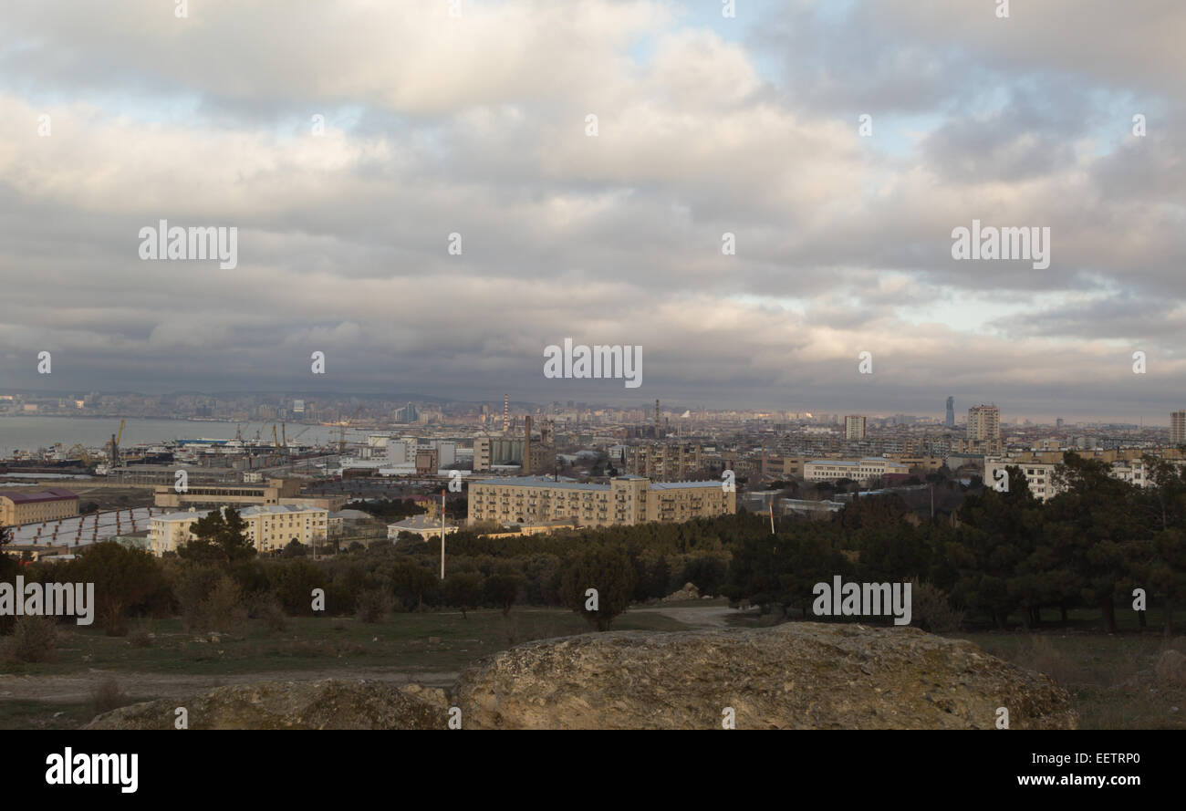 Panorama Baku - Stock Image
