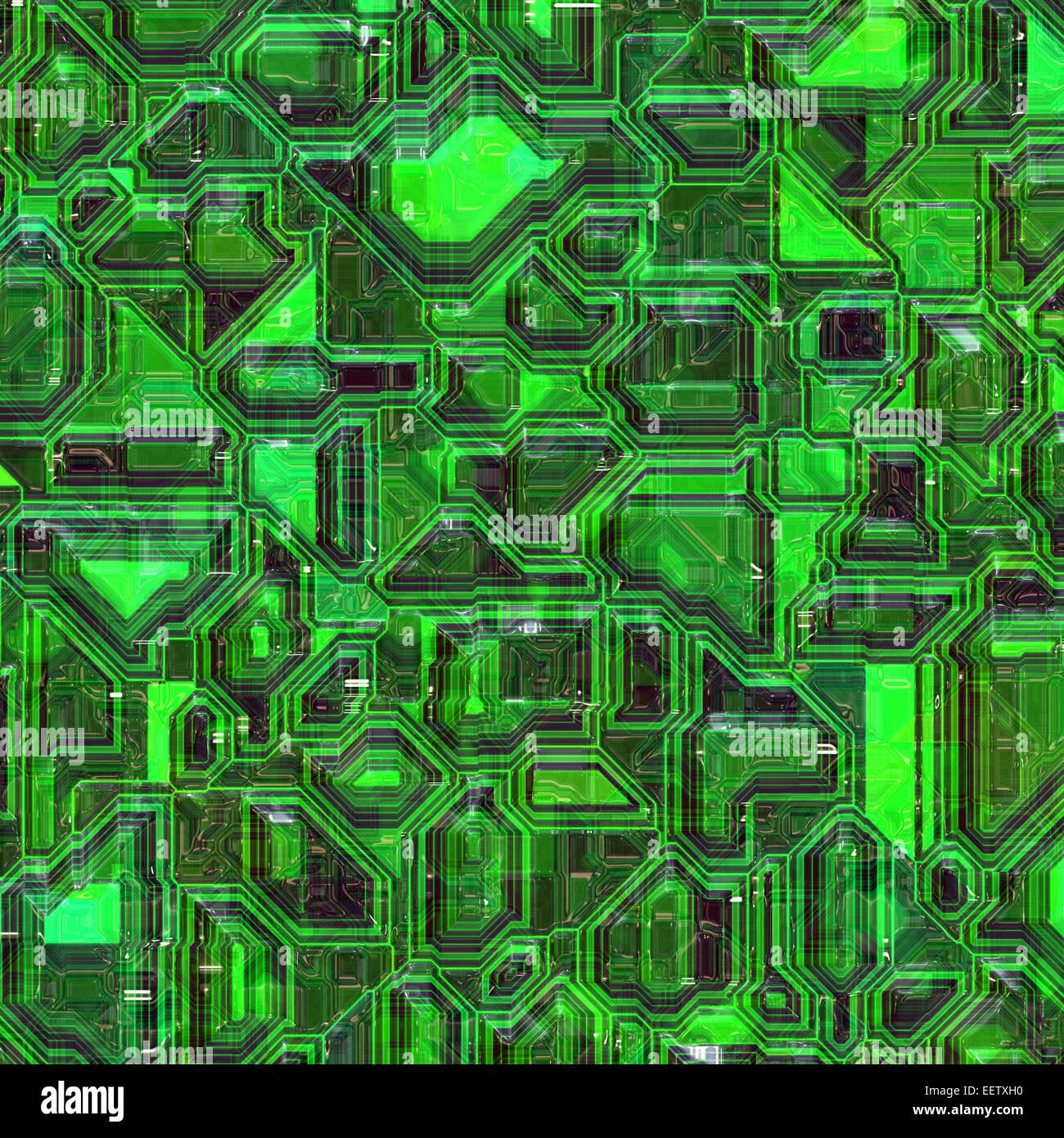 Integrated Circuit Board Stock Photos Circuitboard Green Colored Closeup View Image