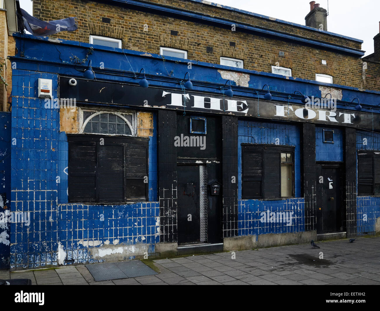 Derelict pub in South London, UK - Stock Image