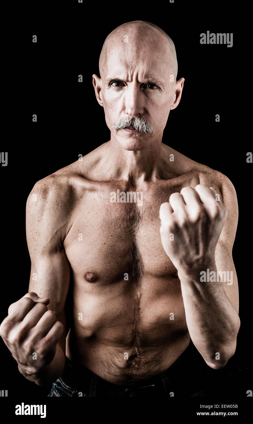 old man in boxing pose stock photo 77995607 alamy
