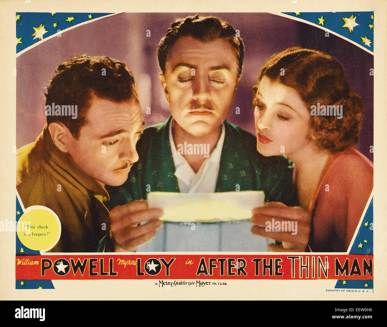 after the Thin Man - Movie Poster - Stock Image