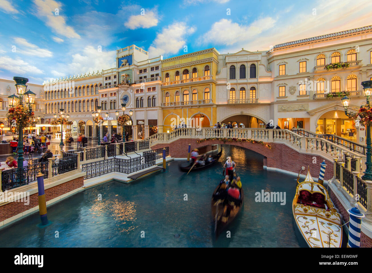 St. Mark's Square at the Grand Canal Shoppes, The Venetian Resort Hotel and Casino, Las Vegas, Nevada, USA - Stock Image