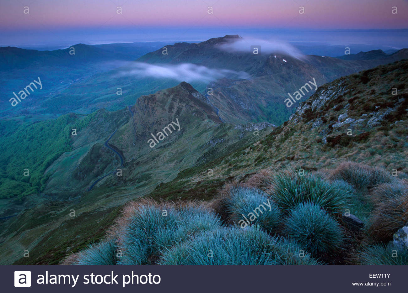 The Chaine of Puys, the Puy Mary, France. Legend of France - Stock Image
