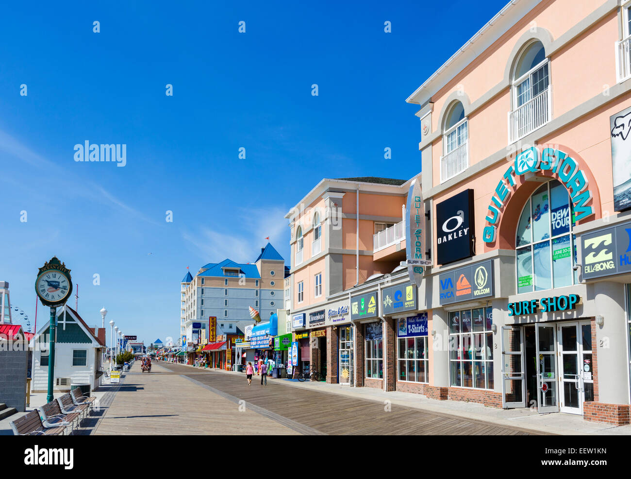 The boardwalk at Ocean City, Maryland, USA - Stock Image