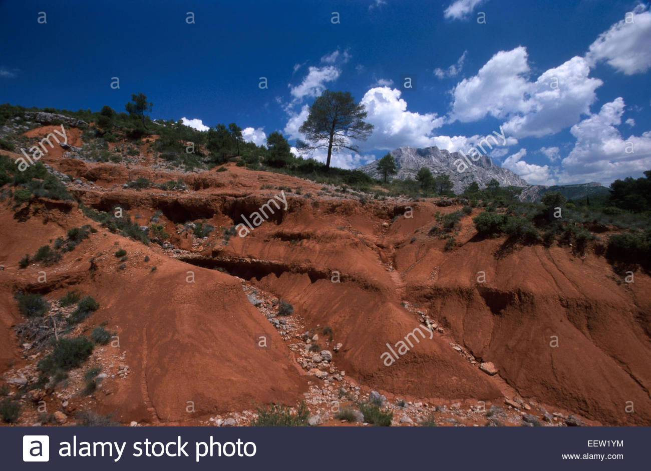 Montagne Sainte-Victoire, Bouches-du-Rhones, France, Legend of France - Stock Image