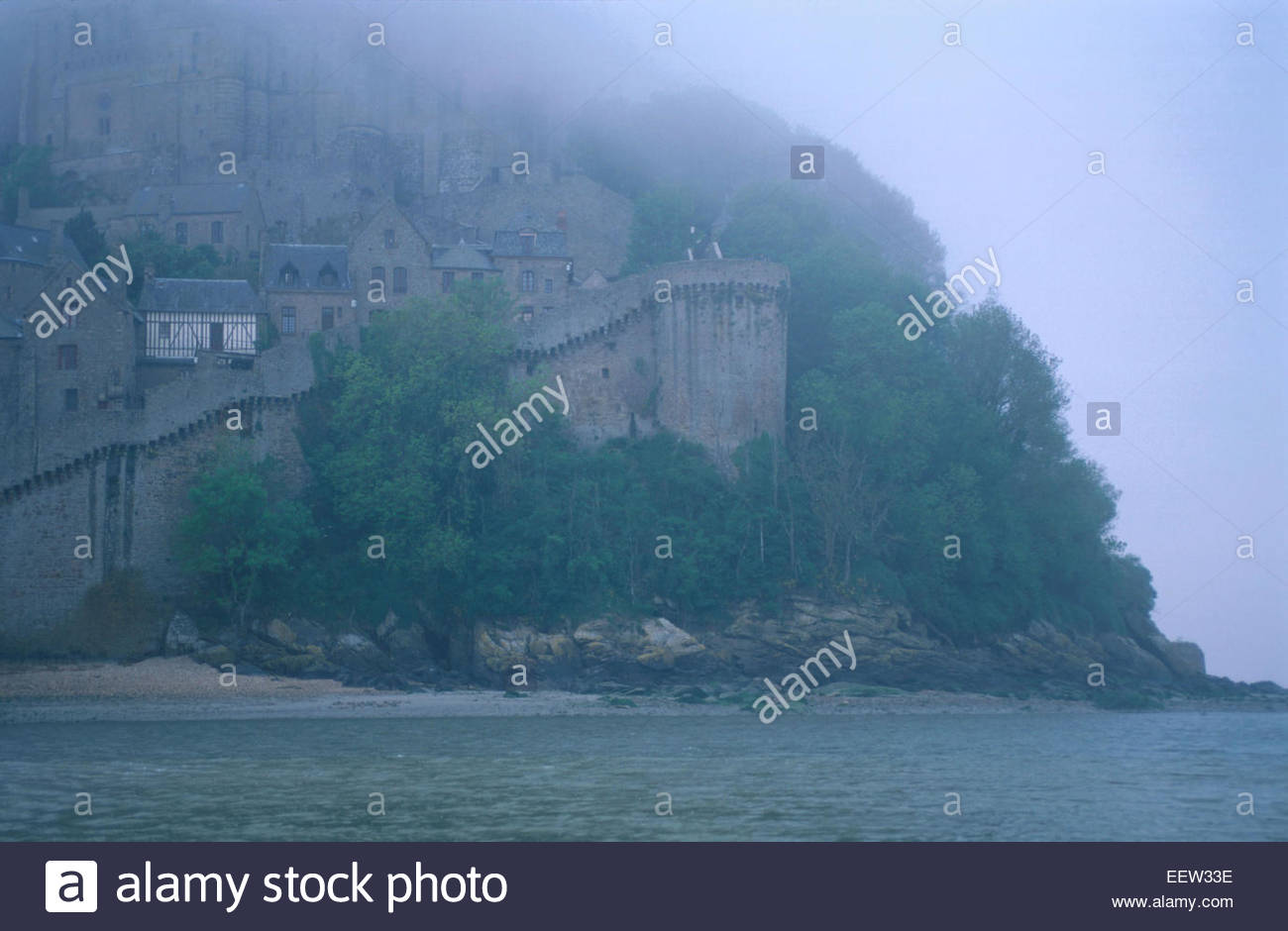 Mont-Saint-Michel , Normandy, France. Legend of France - Stock Image