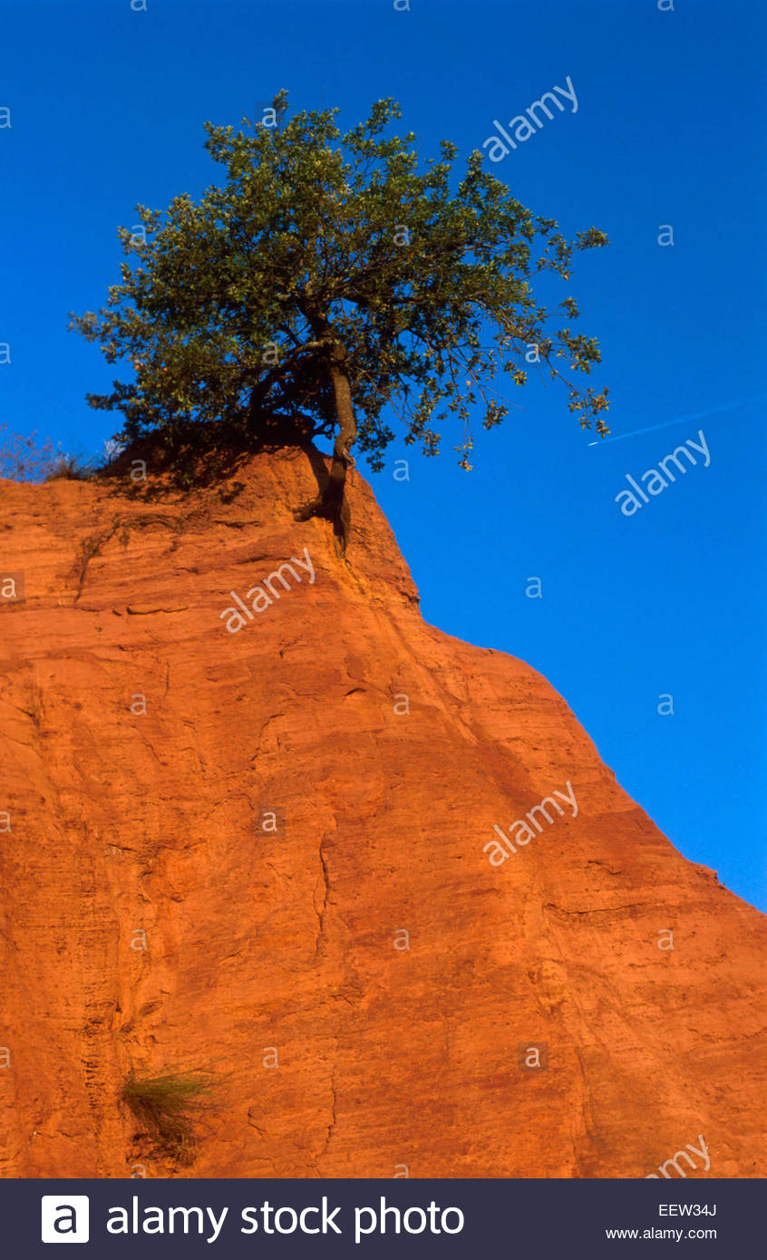 The ancient open-air quarries of Roussillon and Rustrel near Apt, Vaucluse, France. Legend of France - Stock Image