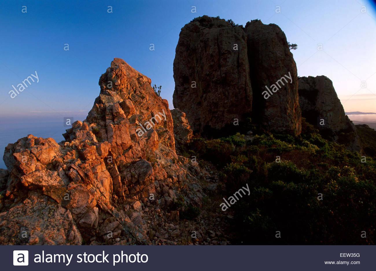Pic du Cap Roux in Esterel, cote d'Azur, France. Legend of France - Stock Image