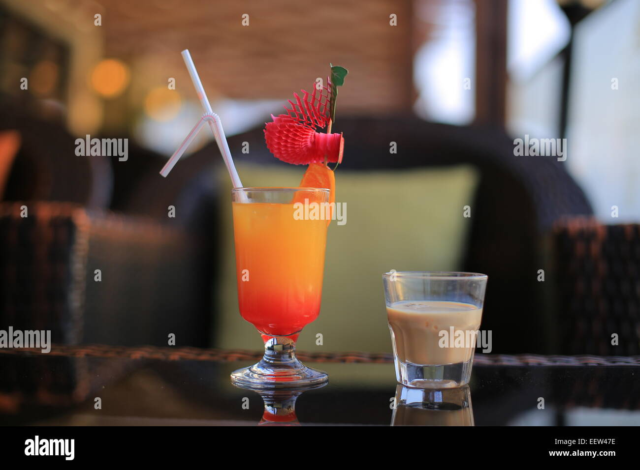 Baileys liqueur and cocktail Stock Photo