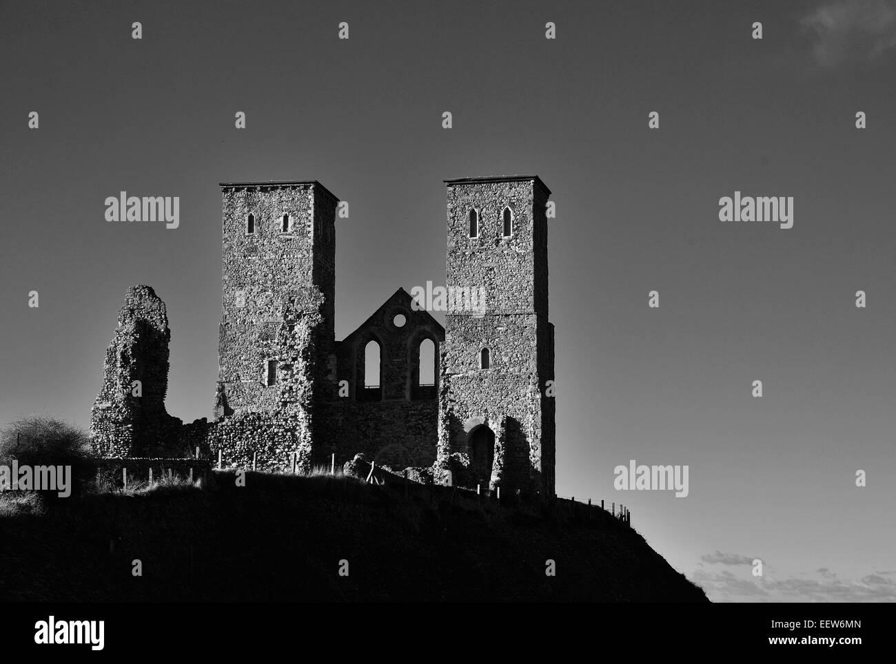 St Mary´s Church at Reculver, Kent, UK - Stock Image