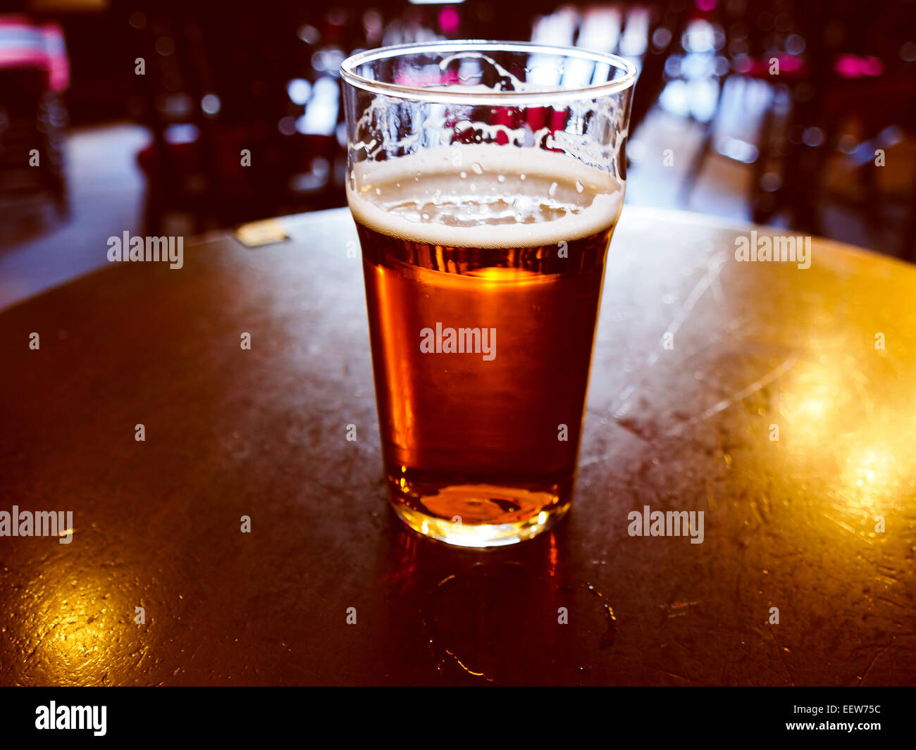 Pint of British bitter ale beer - Stock Image
