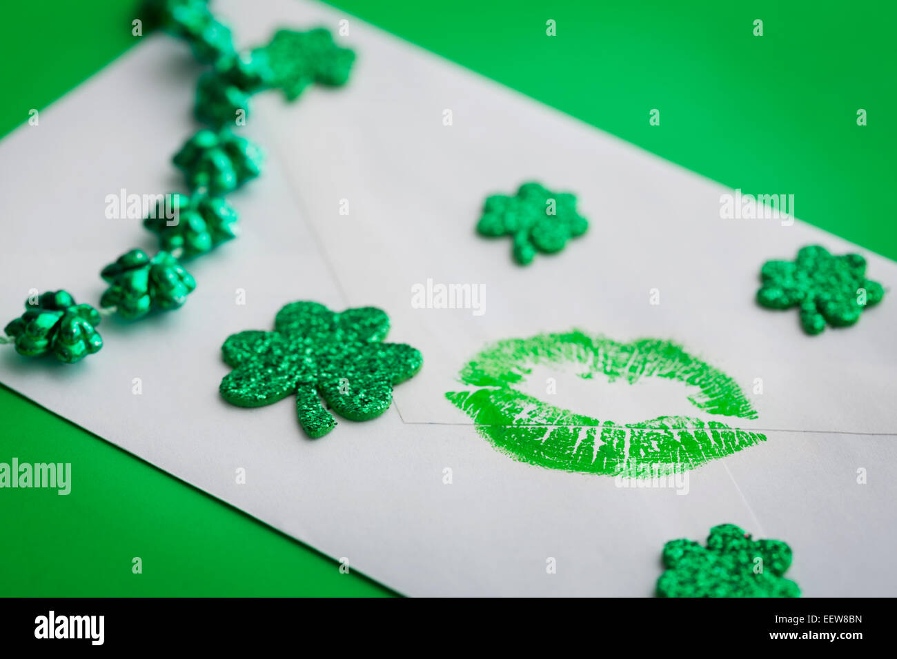 St. Patrick's Day card - Stock Image