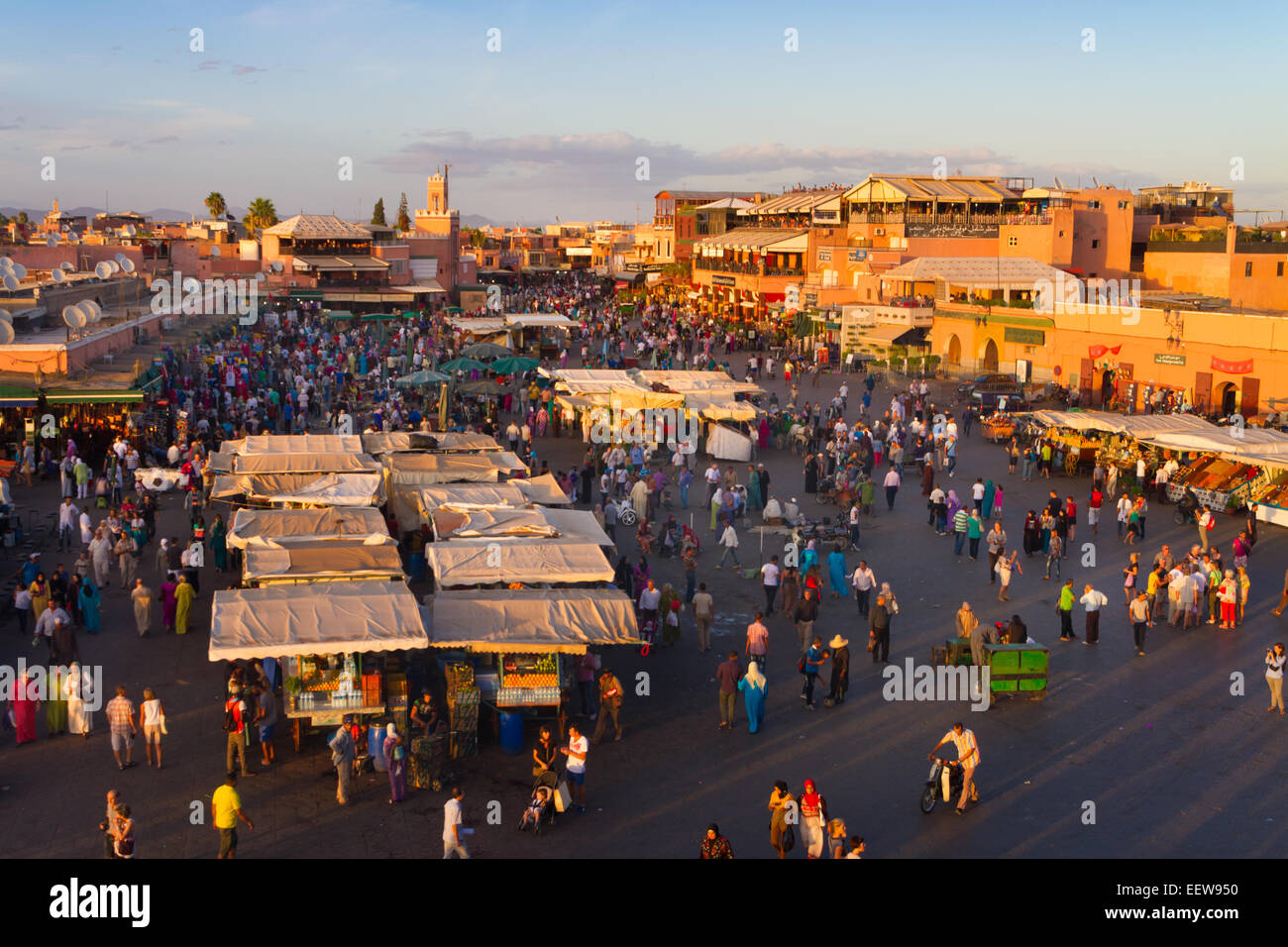 Jamaa el Fna, Marrakesh, Morocco. - Stock Photo