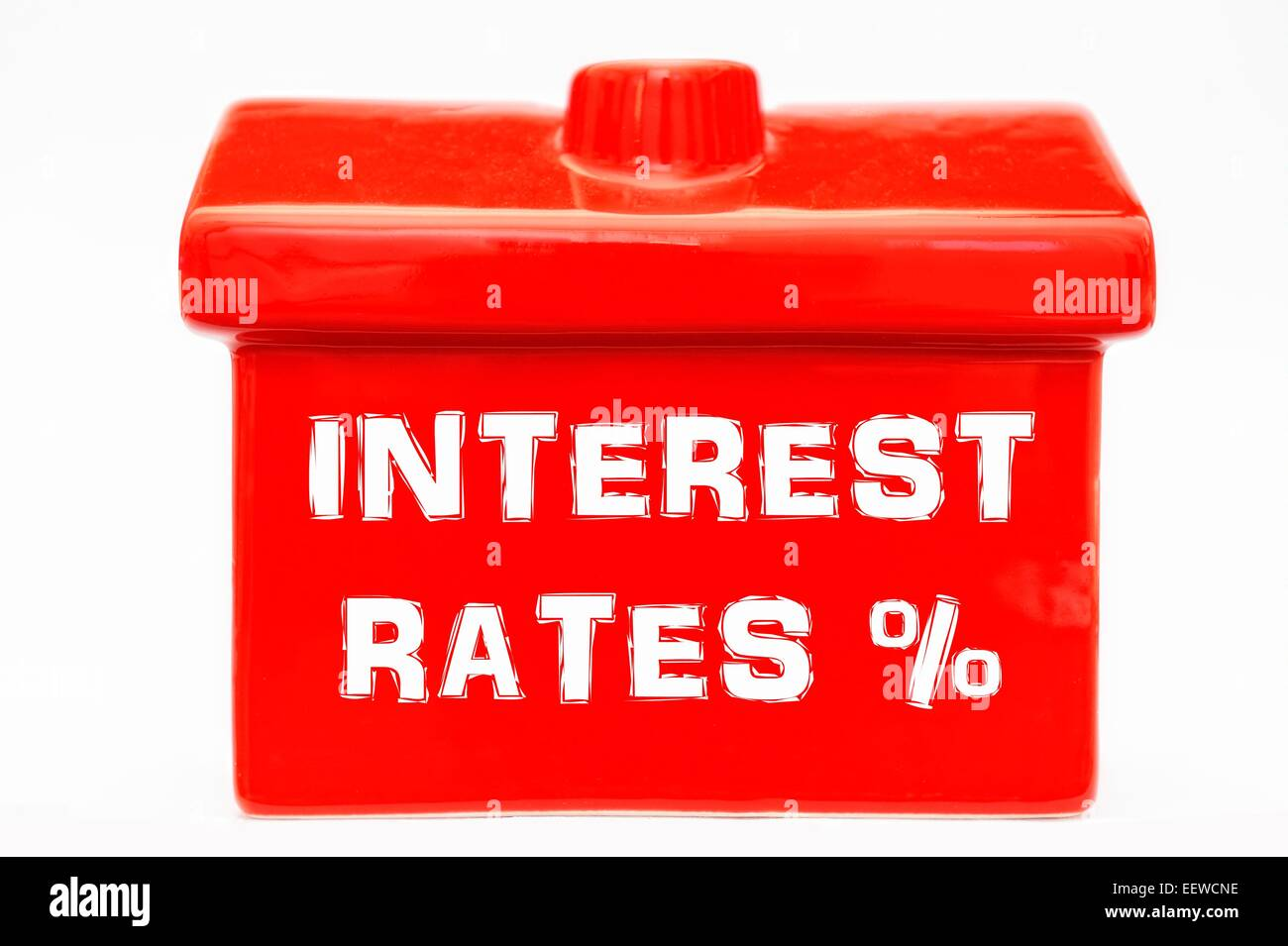 interest rates on a red house - Stock Image