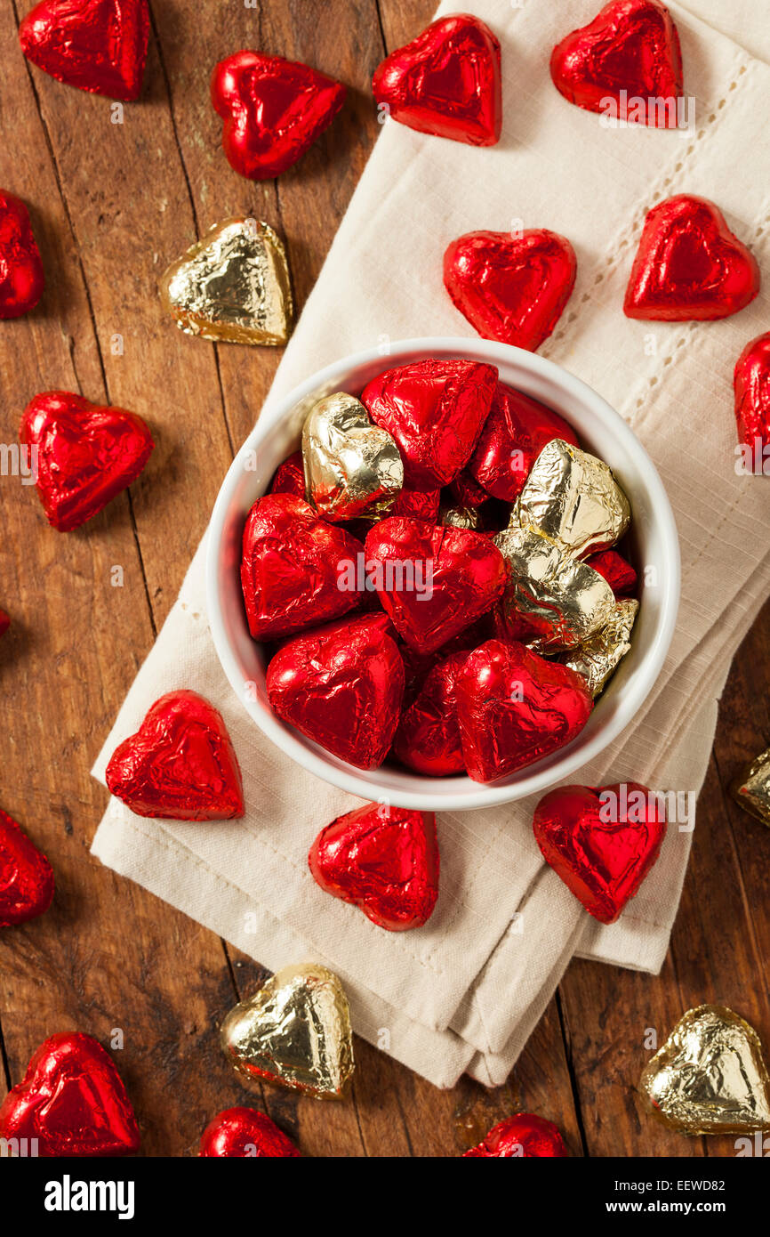 Chocolate Candy Heart Sweets For Valentine S Day Stock Photo