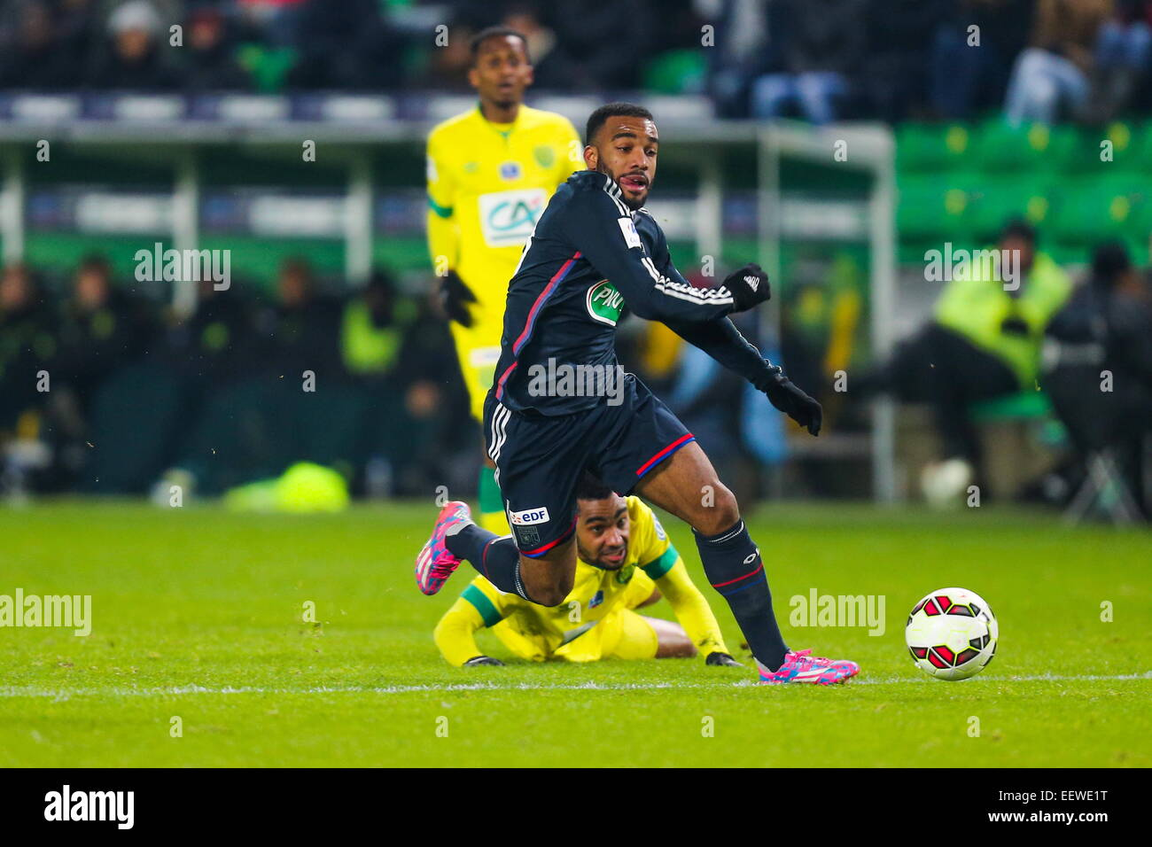 Alexandre LACAZETTE. Coupe de France 2014/2015. Photo : Vincent Michel/Icon Sport - Stock Image