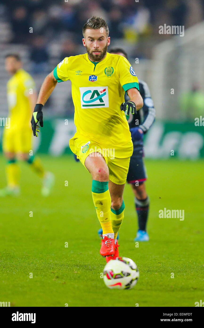 Lucas DEAUX. Coupe de France 2014/2015. Photo : Vincent Michel/Icon Sport - Stock Image