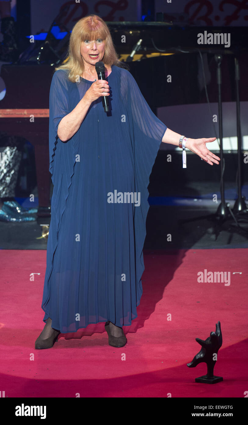 Award-winnter Ursula Monn gives thanks at the B.Z. Culture Awards ceremony in the Komische Oper inBerlin,Germany, Stock Photo