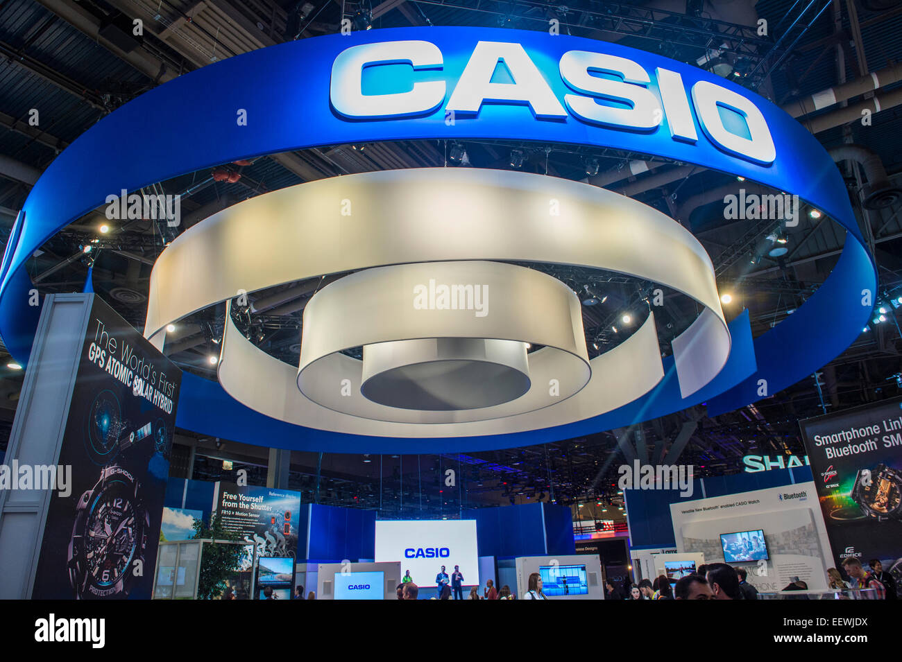 The Casio booth at the CES show held in Las Vegas - Stock Image