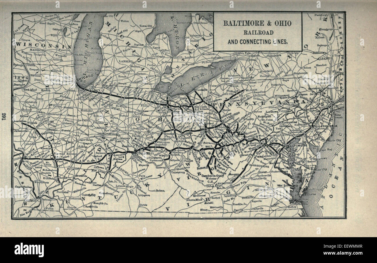 1897 Poor's Baltimore and Ohio Railroad - Stock Image