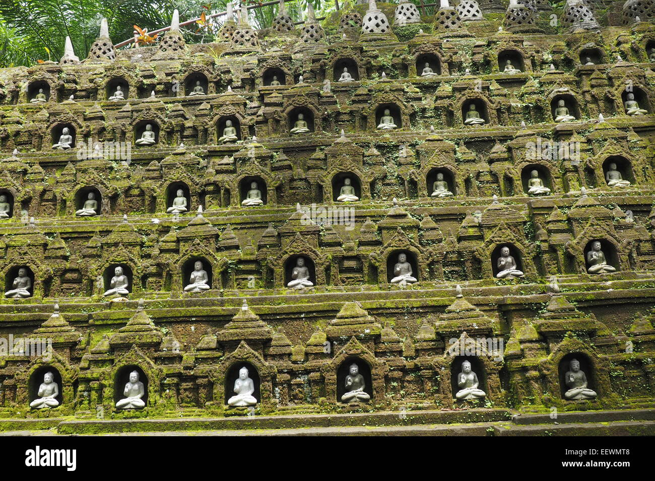 A replication of the  Borobudur Temple at Ayung Resort, Ubud, BAli. - Stock Image