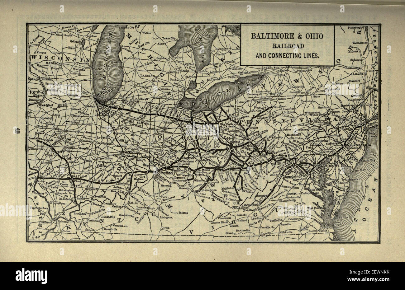 1901 Poor's Baltimore and Ohio Railroad - Stock Image