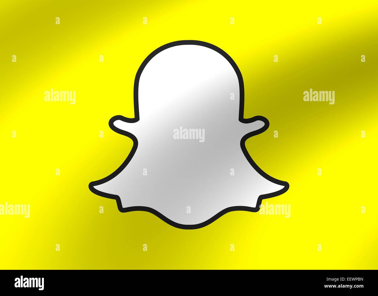 Snapchat logo icon symbol emblem - Stock Image