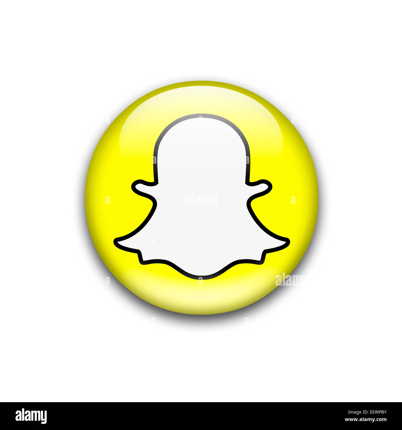 Snapchat Logo Cut Out Stock Images Pictures Alamy