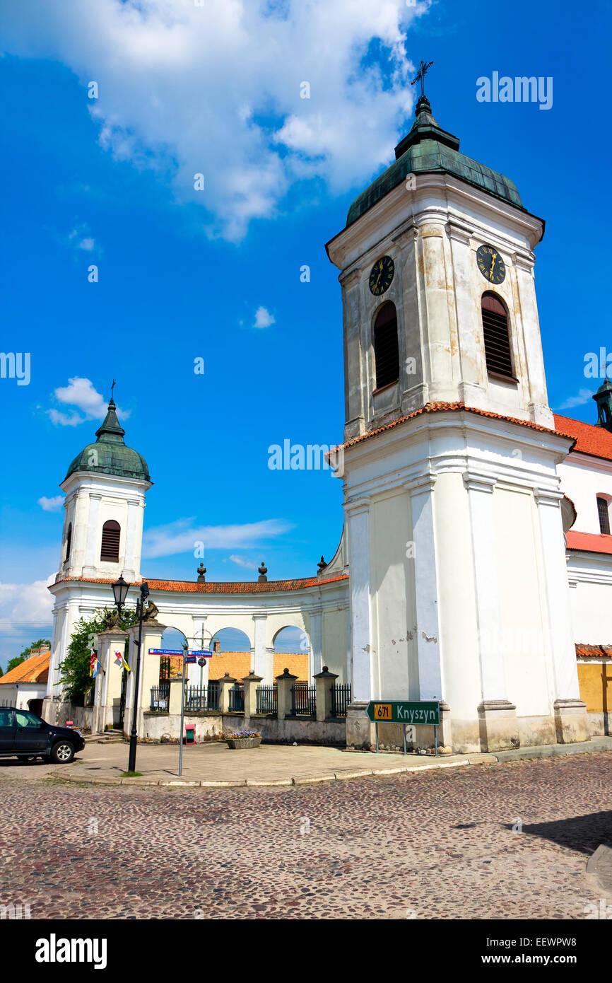 Baroque Church Tykocin Town (Tiktin) Stock Photo