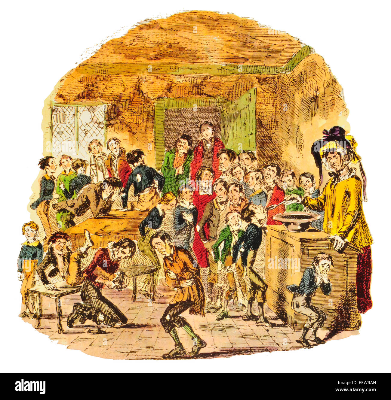 Brimstone and Treacle time at Dotheboys Hall The Life and Adventures of Nicholas Nickleby Charles John Huffam Dickens - Stock Image