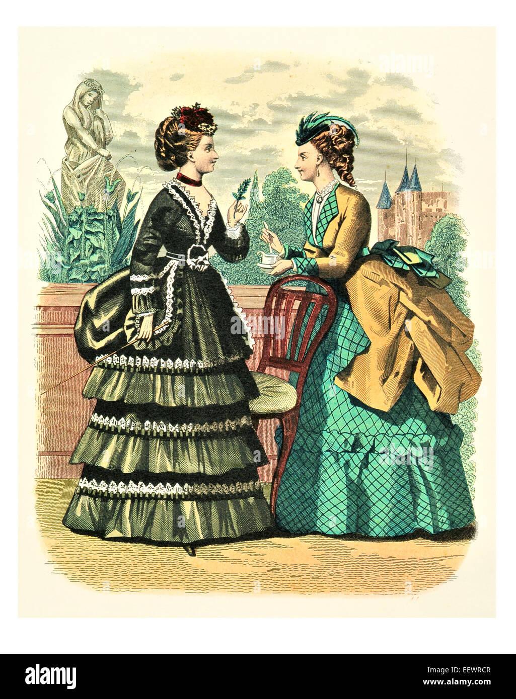 La Mode Illustree Victorian Era Period Costume Fashion
