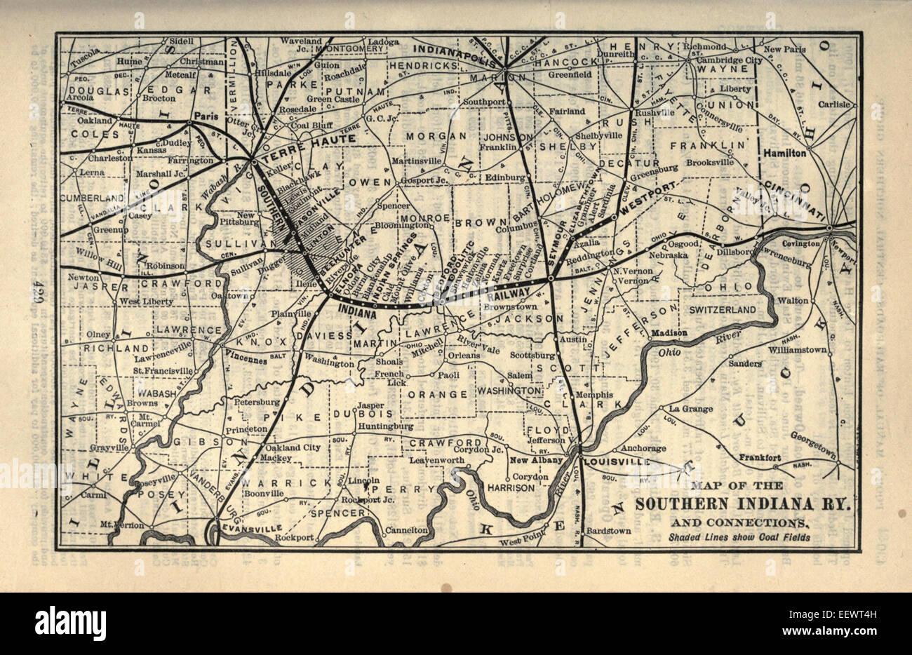 Old Map Of Indiana Stock Photos & Old Map Of Indiana Stock ...