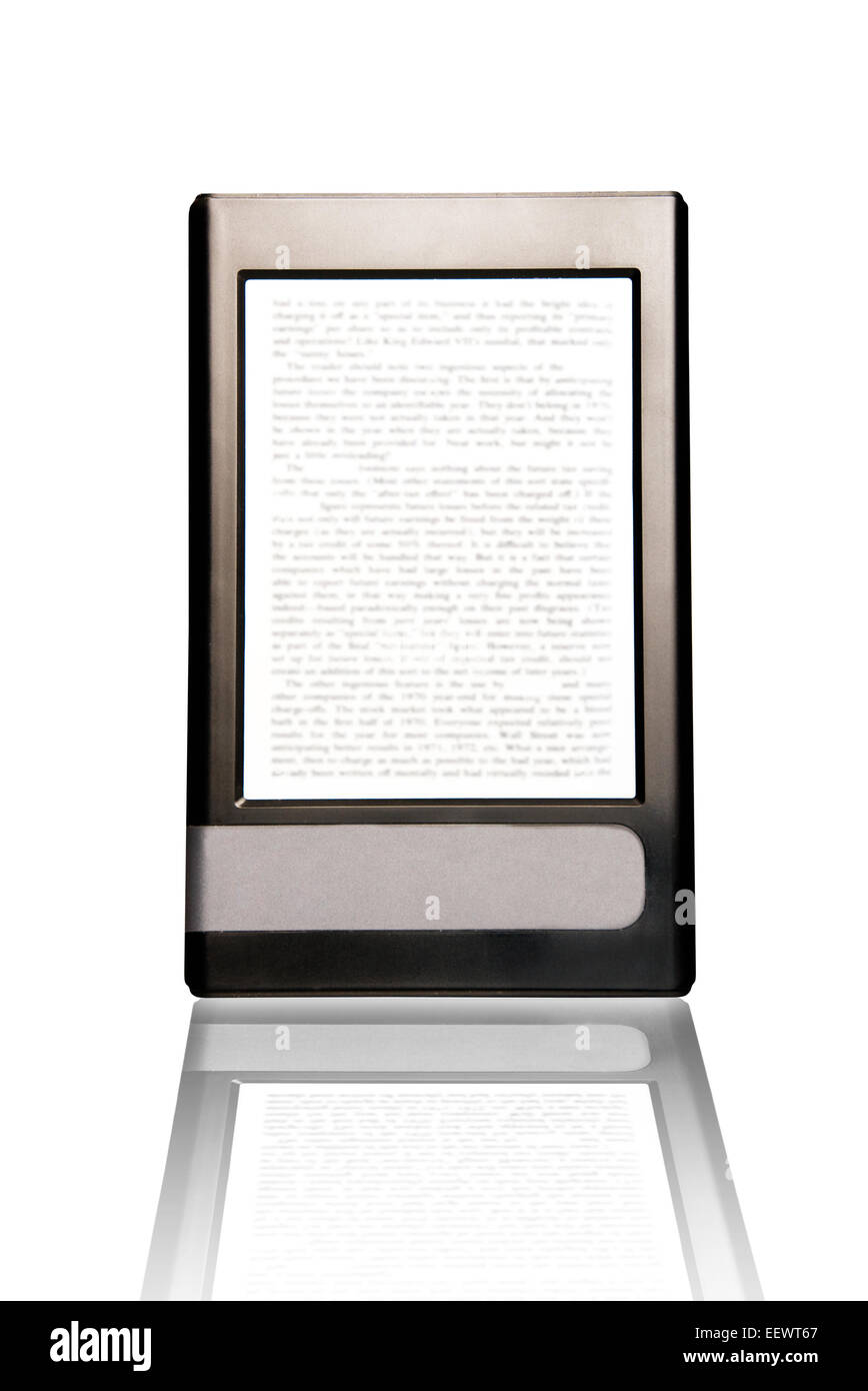conceptual image for the electronic book or ebook technology - Stock Image
