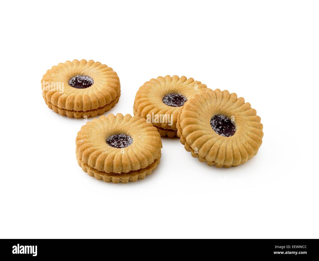 jammy dodger biscuits - Stock Image