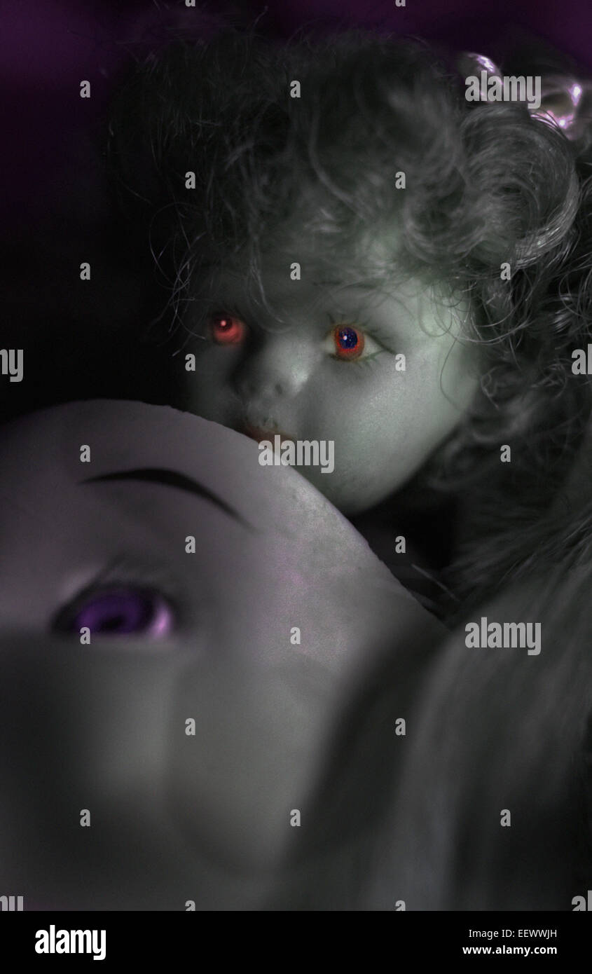 evil doll - Stock Image