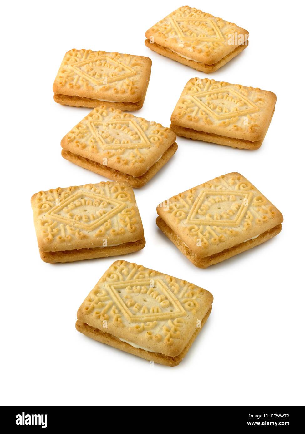 custard cream biscuit - Stock Image