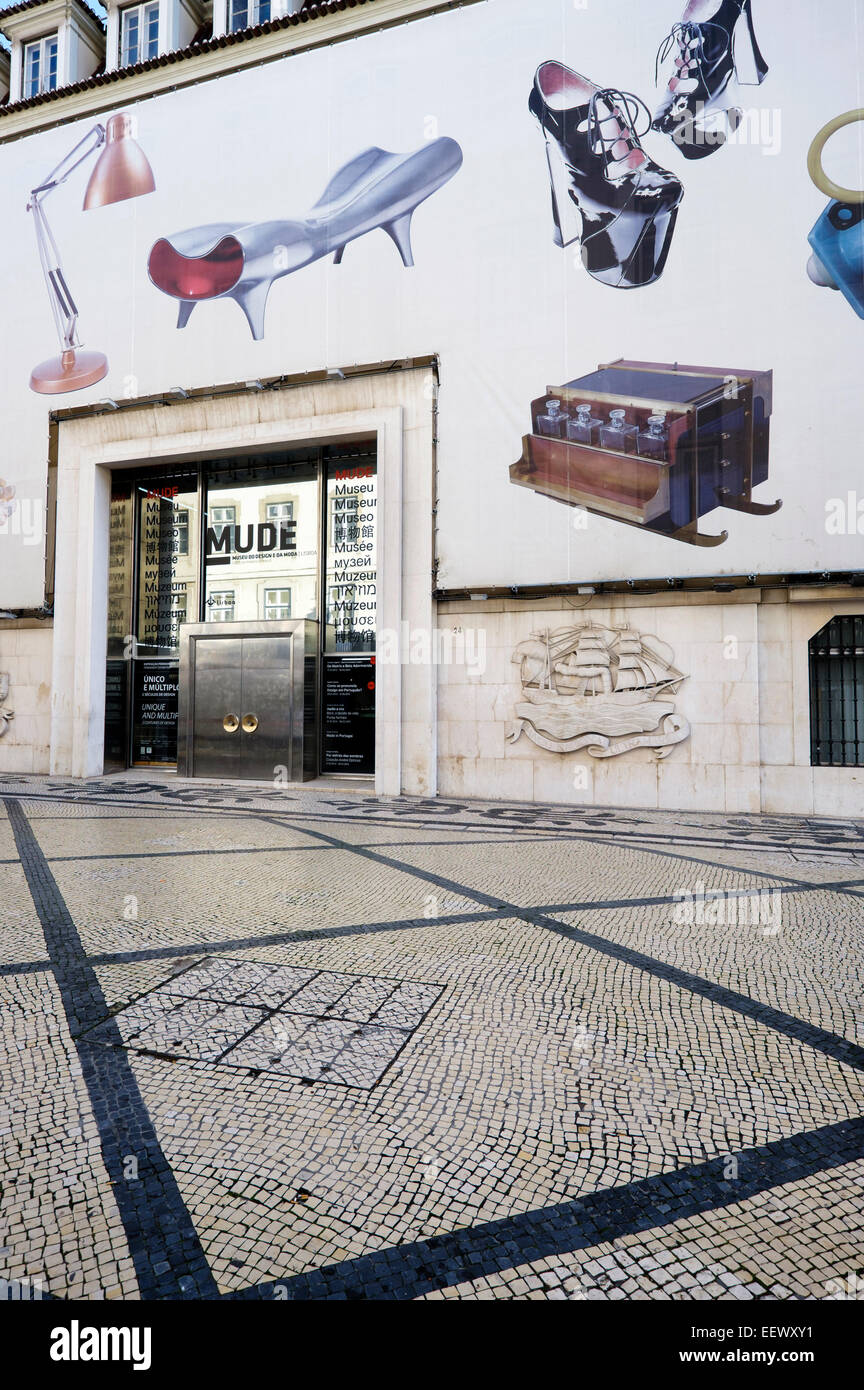Portugal Lisbon Facade And Entrance Of The Mude Design And Fashion Stock Photo Alamy